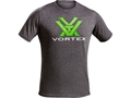 Vortex Men's Toxic Green Logo T-Shirt Short Sleeve Cotton and Polyester Blend Grey
