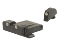 Meprolight Tru-Dot Adjustable Sight Set Glock 17, 19, 20, 21, 22, 23 Steel Blue Tritium Green