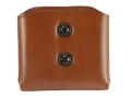 Galco DMC Double Magazine Pouch 45 ACP, 10mm Single Stack Magazines Leather Tan