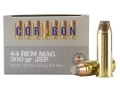 Cor-Bon Hunter Ammunition 44 Remington Magnum 300 Grain Jacketed Soft Point Box of 20