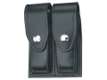 Gould & Goodrich B627 Double Magazine Pouch Beretta 92, 96, Springfield  XD9, XD40 Leather Black