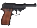 Crosman C41 Air Pistol 177 Caliber Brown Polymer Grips Blue Barrel