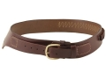 "Triple K 110 Wyoming Western Single Holster Drop-Loop Cartridge Belt 45 Caliber Leather Brown Large 38"" to 43"""