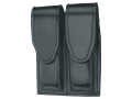 Gould &amp; Goodrich B629 Double Magazine Pouch Glock 17, 19, 22, 23, 31, 32, 34, 35, 36, HK USP 9 Compact, USP 357 Compact, USP 40 Compact, USP 45 Compact, USP 9, USP 40 Leather Black