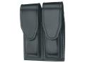 Gould & Goodrich B629 Double Magazine Pouch Glock 17, 19, 22, 23, 31, 32, 34, 35, 36, HK USP 9 Compact, USP 357 Compact, USP 40 Compact, USP 45 Compact, USP 9, USP 40 Leather Black