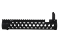 "Troy Industries 11"" Alpha Battle Rail Modular Free Float Handguard with Integral Flip-Up Front Sight AR-15 Black"