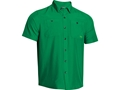Under Armour Men's Chesapeake Short Sleeve Shirt Polyester Feisty Medium 38-40