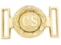 "Collector's Armoury Replica Civil War Confederate ""CS"" Deluxe Round Belt Buckle Brass"