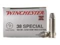 Winchester Super-X Ammunition 38 Special 158 Grain Lead Semi-Wadcutter
