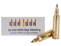 Cor-Bon Self-Defense Ammunition 22-250 Remington 55 Grain Sierra BlitzKing Polymer Tip Box of 20