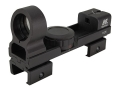 Product detail of NcStar Reflex Red Dot Sight Red and Green 5 MOA Dot with Interchangeable Weaver and 3/8&quot; Dovetail Mount Matte
