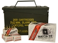 Norma USA Match-22 Ammunition 22 Long Rifle 40 Grain Lead Round Nose Subsonic Ammo Can of 1500 (3 Boxes of 500)