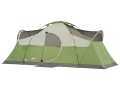 "Coleman Montana 8 Man Modified Dome Tent 192"" x 84"" x 74"" Polyester Green and White"