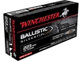 Winchester Supreme Ammunition 223 Remington 55 Grain Ballistic Silvertip
