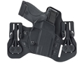 BLACKHAWK! Tuckable Pancake Inside the Waistband Holste S&W M&P 9mm, 40 S&W Leather and Polymer Black