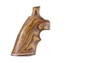 Hogue Fancy Hardwood Grips with Accent Stripe and Top Finger Groove Colt Detective Special Cocobolo