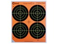 Caldwell Orange Peel Target 4&quot; Self-Adhesive Bullseye (4 Bulls Per Sheet) Package of 25