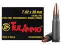 TulAmmo Ammunition 7.62x39mm Russian 124 Grain Full Metal Jacket (Bi-Metal) Steel Case Berdan Primed