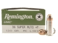 Remington UMC Ammunition 38 Super +P 130 Grain Full Metal Jacket