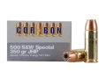 Cor-Bon Hunter Ammunition 500 S&amp;W Special 350 Grain Jacketed Hollow Point Box of 12