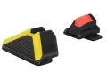 Advantage Tactical Triangular Sight Set Sig Sauer All Models (Except P250, 1911 Models) Steel Blue with Interchangeable Front & Rear Colored Inserts
