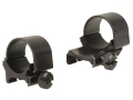 "Weaver 1"" Top-Mount Extended Rings One Extended One Standard Matte Medium"