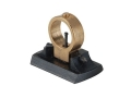 "Axtell Beech Combination Front Sight with Gold Rocker 3/8"" Dovetail Steel Blue"