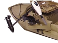 Beavertail Stealth Sneak Boat Motor Mount for Stealth 2000 Marsh Brown