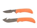 Outdoor Edge Wild-Pair Fixed Blade Gut Hook Knife and Fixed Blade Boning Knife 420 Stainless Blades TRP Handle Orange