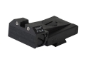Product detail of Kensight Adjustable Rear Night Sight 1911 Kimber Cut Steel Black Beveled Blade Serrated with Green Tritium Dots