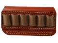 Product detail of Gould & Goodrich Cartridge Belt Slide Ammunition Carrier Taurus Judge or S&W Governor 6-Round Leather Brown