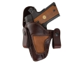 Bianchi 120 Covert Option Inside the Waistband Holster Left Hand Glock 19, 23 Leather Brown