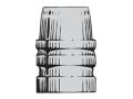 Saeco 3-Cavity Bullet Mold #458 45 Caliber (452 Diameter) 255 Grain Semi-Wadcutter