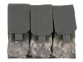 BlackHawk S.T.R.I.K.E. Speed Clip M4/M16 Triple Magazine Pouch Holds 6 AR-15 30 Round Magazine Nylon ACU Camo