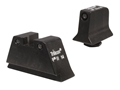 Trijicon Suppressor Night Sight Set Glock Large Frame 3-Dot Tritium Grn