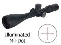 Factory Blemished Nightforce NXS Rifle Scope 30mm Tube 5.5-22x 56mm Zero Stop Side Focus Illuminated Mil-Dot Reticle Matte
