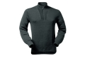 Product detail of Wool Power Men&#39;s 1/4 Zip Turtleneck Long Underwear Shirt Long Sleeve 400 Gram Insulated Wool Black XL 45-48