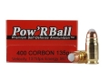 Product detail of Glaser Pow'RBall Ammunition 400 Cor-Bon 135 Grain Box of 20
