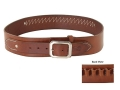 Van Horn Leather Ranger Cartridge Belt 45 Caliber Small Leather Chestnut