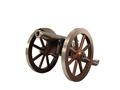 "Traditions Mini Napoleon III Black Powder Cannon 50 Caliber 7.25"" Nickel Plated Barrel Hardwood Carriage"