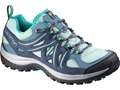 "Salomon Ellipse Aero 4"" Hiking Shoes Synthetic Stone Blue/Slate Blue Women's"