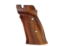Hogue Fancy Hardwood Grips S&amp;W 41 Right Hand Thumb Rest Checkered Cocobolo