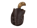 "Hunter 1094 Sheriff's Model Holster Left Hand Colt Single Action Army, Ruger Vaquero 3"" Barrel Leather Antique Brown"