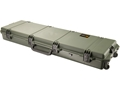 "Pelican Storm 3300 Scoped Rifle Gun Case with Solid Foam Insert and Wheels 53"" Polymer Olive Drab"