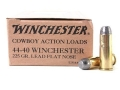 Winchester USA Cowboy Ammunition 44-40 WCF 225 Grain Lead Flat Nose