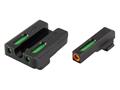 TRUGLO TFX Pro Sight Set Sig Sauer #8/#8 Tritium / Fiber Optic Green with Orange Front Dot Outline