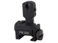 ProMag Low Profile Multiple Aperture Flip-Up Rear Sight with Range Markings Aluminum Black