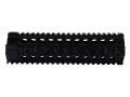 Midwest Industries Gas Piston Free Float Tube Handguard Quad Rail AR-15 Mid Length Aluminum Black