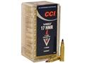 CCI Ammunition 17 Hornady Magnum Rimfire (HMR) 17 Grain Hornady V-Max