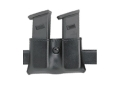 "Safariland 079 Double Magazine Pouch 2-1/4"" Snap-On Colt Government 380, Mustang, S&W Sigma 380, Walther PP, PPK, PPK/S Polymer Black"